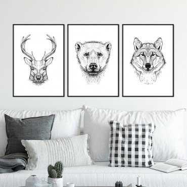 Zestaw trzech plakatów - WILD COMPANY