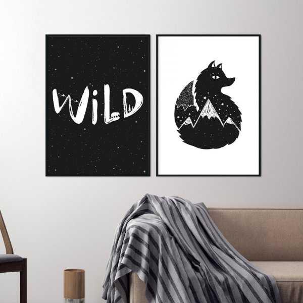 Zestaw dwóch plakatów - WILD FOX