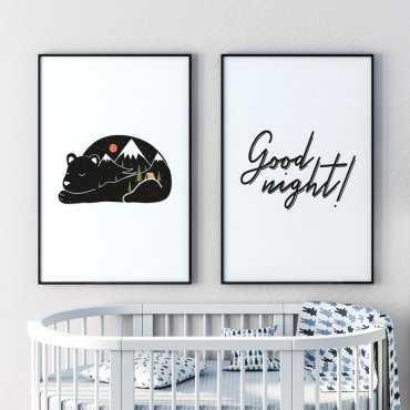 Zestaw dwóch plakatów - GOOD NIGHT