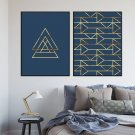 Zestaw dwóch plakatów - BLUE GOLD
