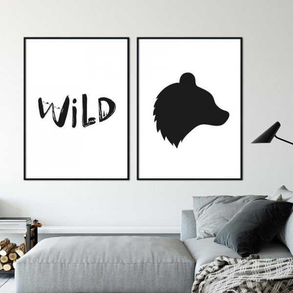Zestaw dwóch plakatów - WILD