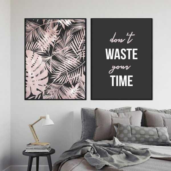 Zestaw dwóch plakatów - DON'T WASTE YOUR TIME