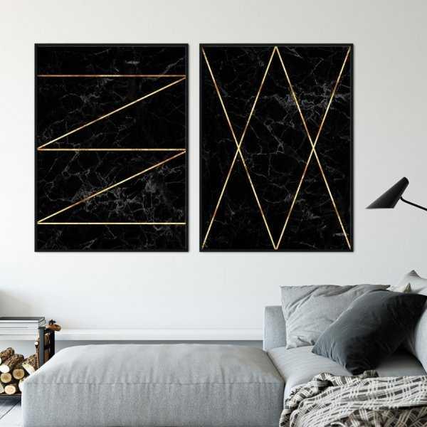 Zestaw dwóch plakatów - GOLDEN STAIRS