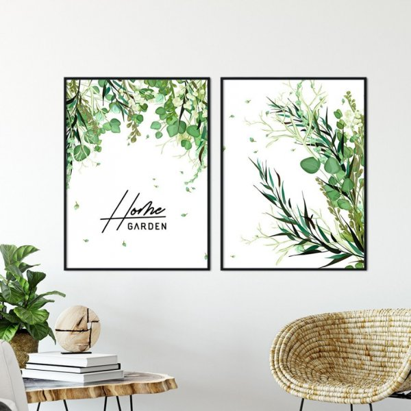 Zestaw dwóch plakatów - HOME GARDEN