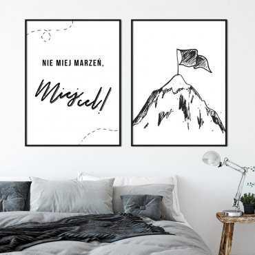 Zestaw dwóch plakatów - MIEJ CEL