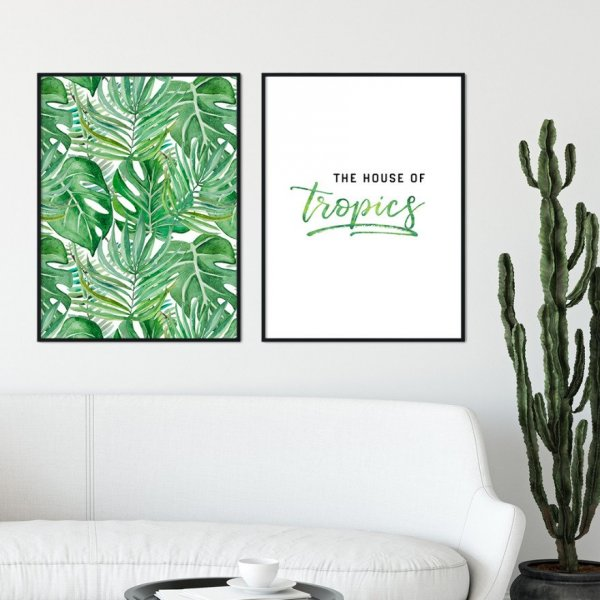 Zestaw dwóch plakatów - THE HOUSE OF TROPICS