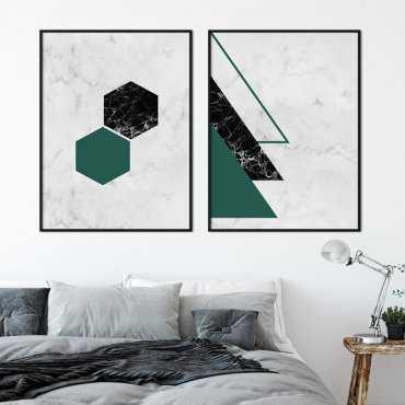 Zestaw dwóch plakatów - TRENDY GREEN PACK
