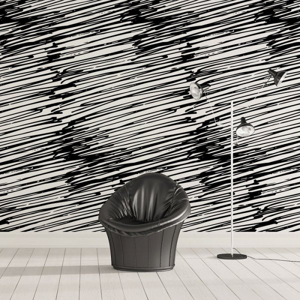 ARTYSTYCZNY BAŁAGAN - Designerska tapeta ścienna