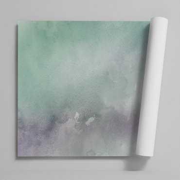 Tapeta na ścianę - GREEN WATERCOLOR