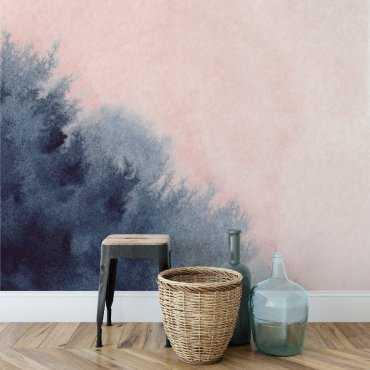 Tapeta na ścianę - NAVY BLUE PINK