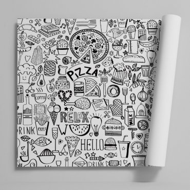 Tapeta na ścianę - PIZZA DESIGN