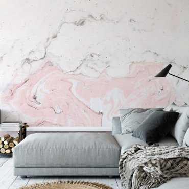 Tapeta na ścianę - RISING PINK MARBLE