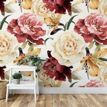 Tapeta na ścianę - SUNNY ROSES