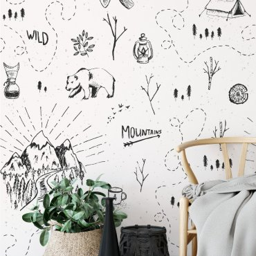 Tapeta na ścianę - WILD ADVENTURE