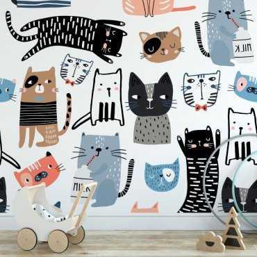 Tapeta dziecięca - CATS FRIENDSHIP