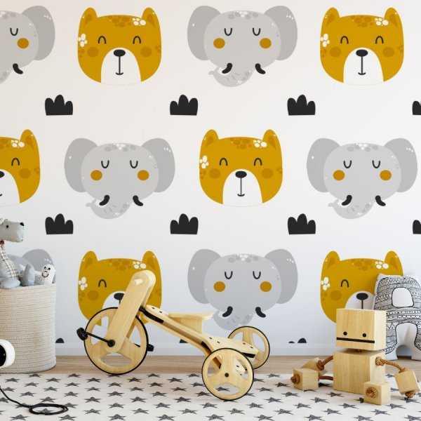 Tapeta dziecięca - DOG AND ELEPHANT