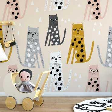 Tapeta dziecięca - FASHION CATS