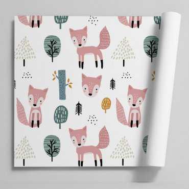 Tapeta dziecięca - FOX IN THE WOODS
