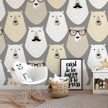 Tapeta dziecięca - GENTLEMAN BEAR