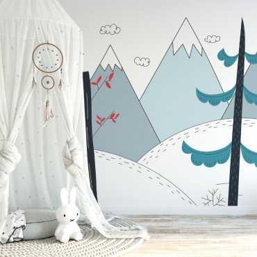 Tapeta dziecięca - MOUTAINS ART