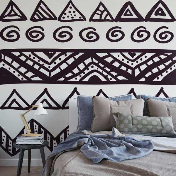 AZTECKA - Designerska tapeta ścienna na wymiar