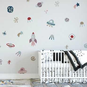 Tapeta dziecięca - SPACETOWN