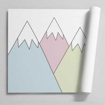 Tapeta dziecięca - COLORFUL MOUNTAINS