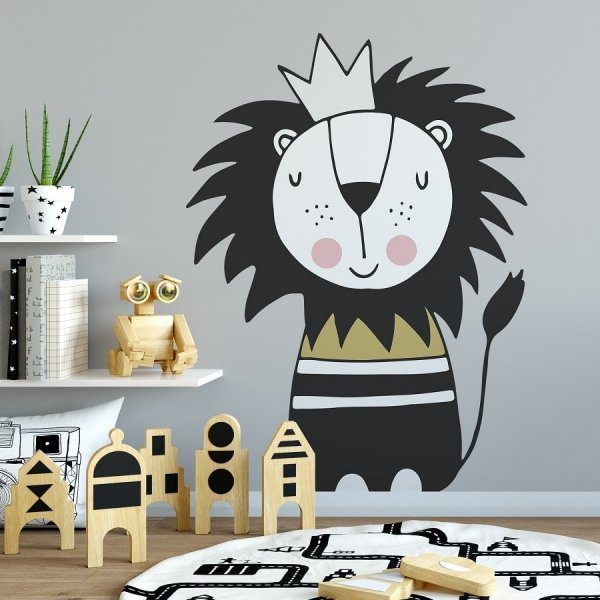 Naklejka na ścianę - LION GOLDEN KING