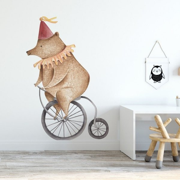 Naklejka na ścianę - CIRCUS BEAR