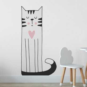 Naklejka na ścianę - CAT OF LOVE