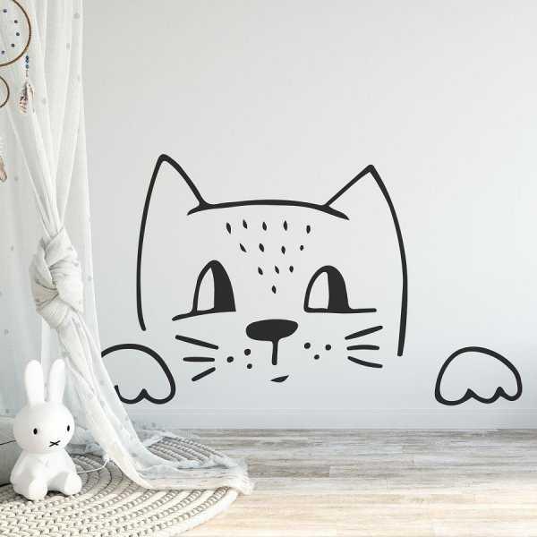 Naklejka na ścianę - FOXY CAT