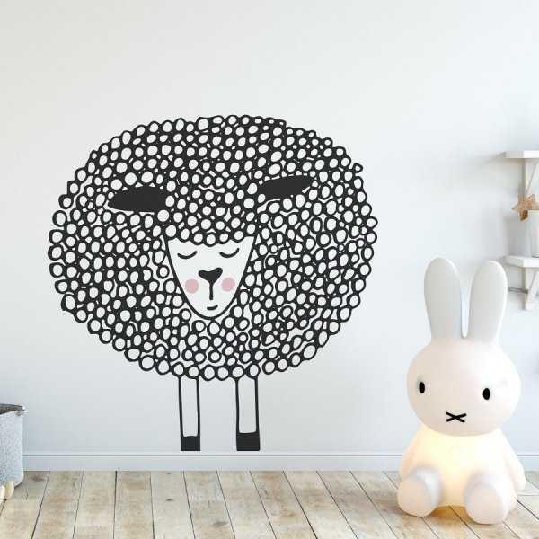 Naklejka na ścianę - CUTE SHEEP