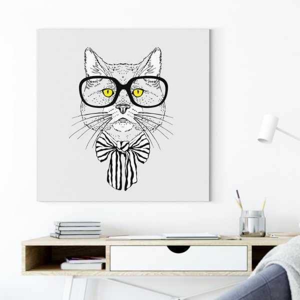 Obraz na płótnie - KITTY GLASSES