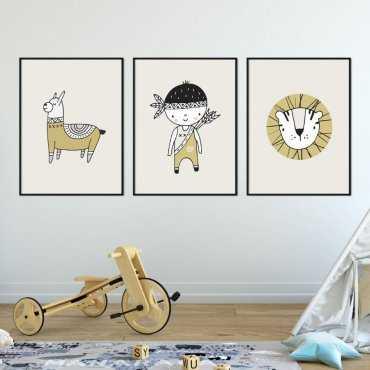Zestaw plakatów dziecięcych - ADVENTURE BOY