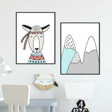 Zestaw plakatów dziecięcych - FRIENDLY MOUNTAINS