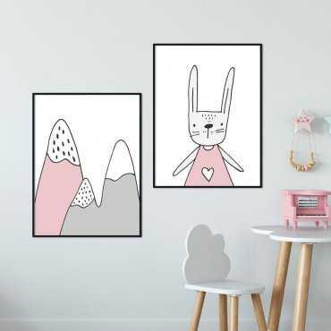 Zestaw plakatów dziecięcych - PINK ADVENTURE