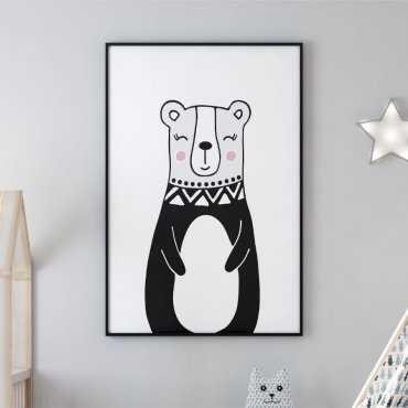Plakat dla dzieci - MISS LOVELY BEAR