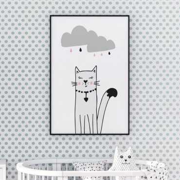 Plakat dla dzieci - STYLISH KITTY