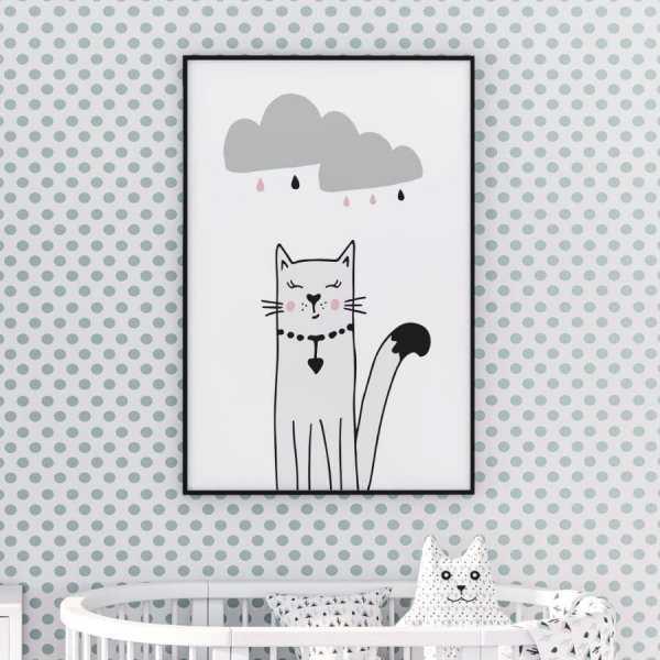 Plakat Dla Dzieci Stylish Kitty