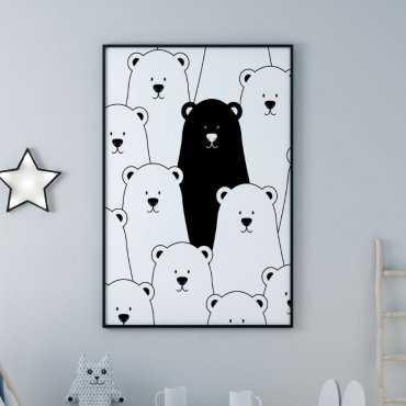 Plakat dla dzieci - UNIQUE BEAR