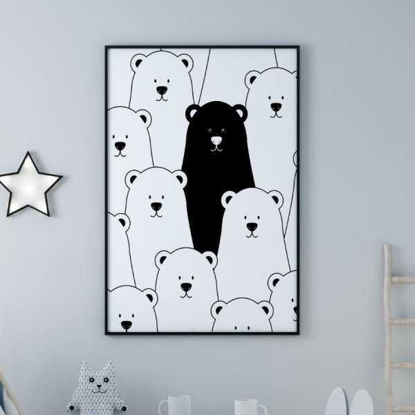 Plakat Dla Dzieci Unique Bear