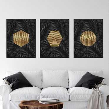Zestaw trzech plakatów - GEOTROPICAL GOLD