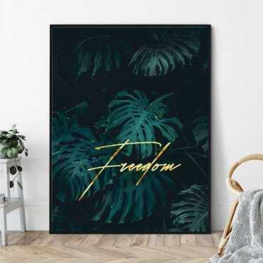 Plakat w ramie - FREEDOM