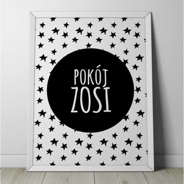 """POKÓJ """"IMIĘ DZIECKA"""" - Plakat personalizowany w gwiazdki"""