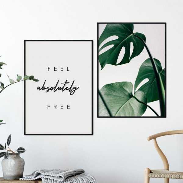 Zestaw dwóch plakatów - FEEL ABSOLUTELY FREE