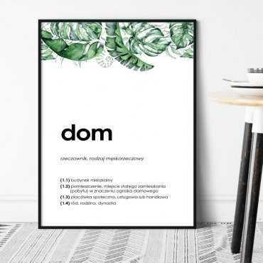 """Plakat w ramie - SŁOWO """"DOM"""""""