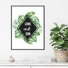 Plakat w ramie - LOVE AND SUN
