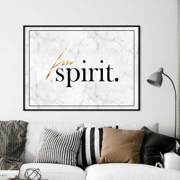 Plakat W Ramie Free Spirit