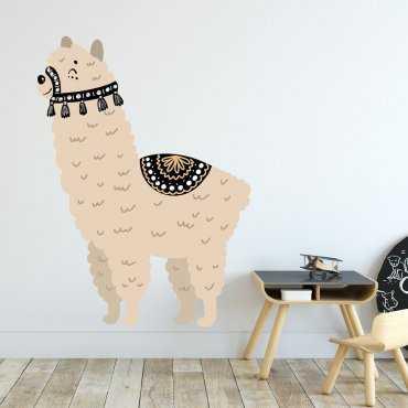 Naklejka na ścianę - Friendly Lama