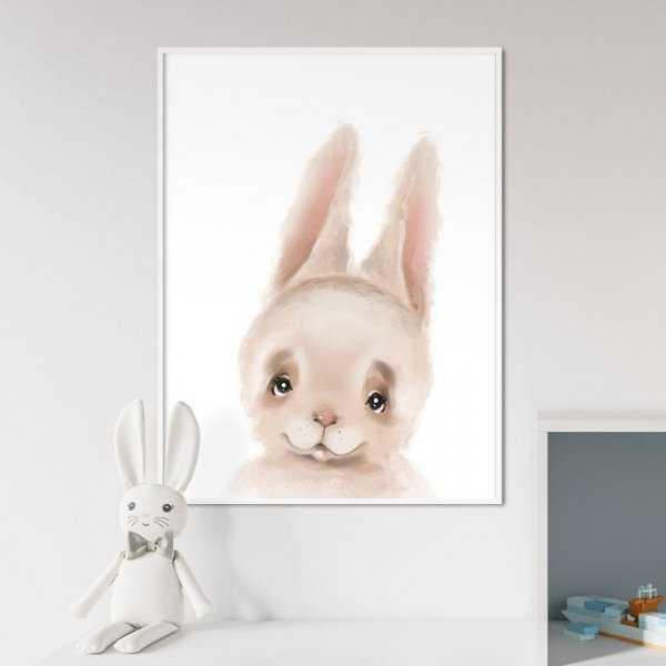 Plakat dla dzieci - CUTE BUNNY